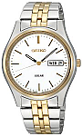 Seiko Two-tone Solar Watch for Men with Phi Eta Sigma Logo