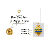 PAA Certificate & Charm Combination