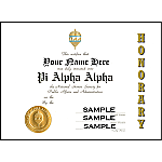 PAA Honorary Certificate