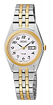 Seiko Two-toned Solar Watch for Women with Phi Eta Sigma Logo
