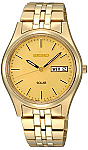 Seiko Gold-tone Solar Watch for Men with Phi Eta Sigma Logo