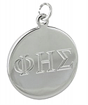Round Polished Engraved Charm